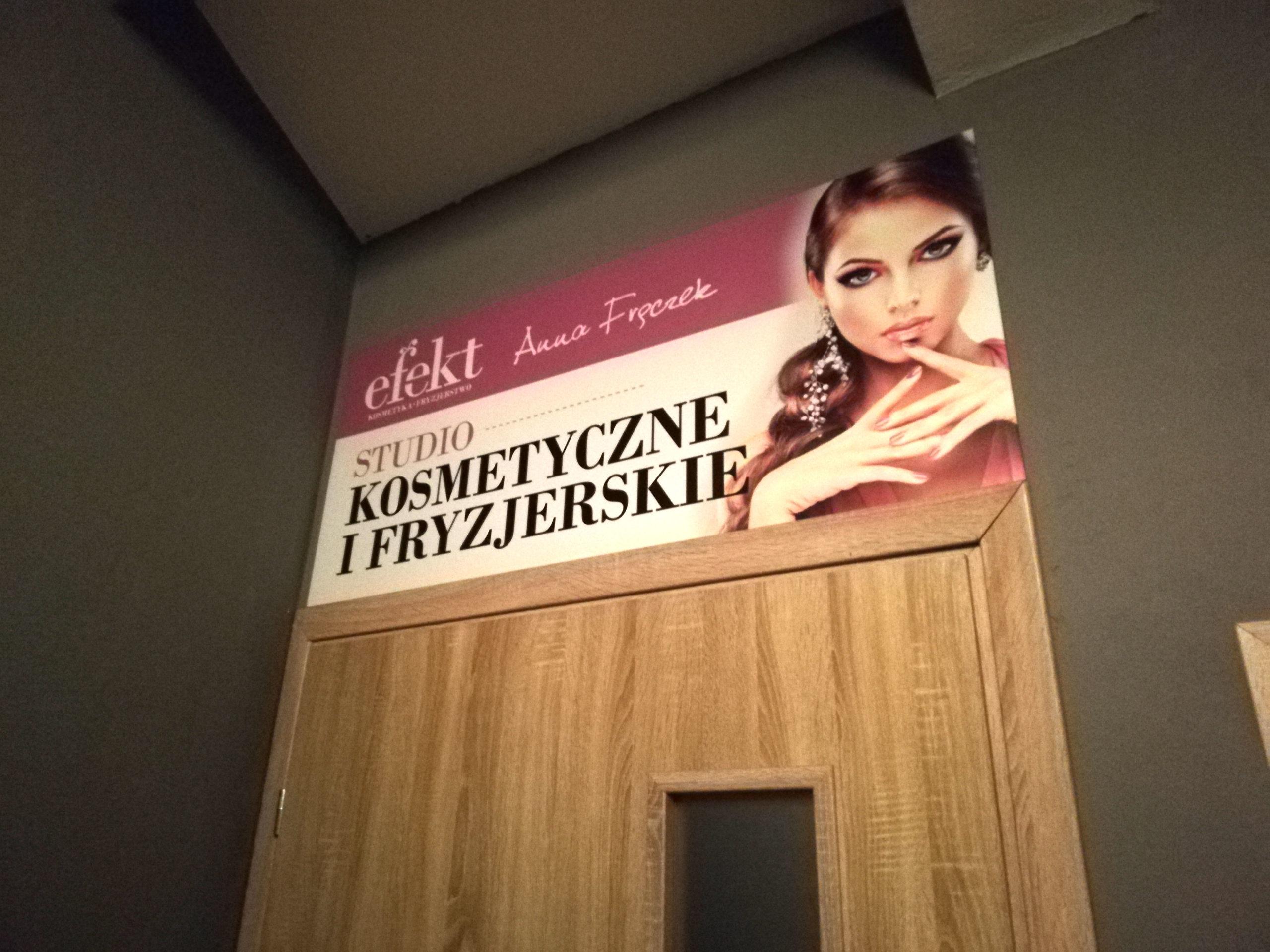 Realizacja reklamy Efekt Kosmetyka i Fryzjerstwo