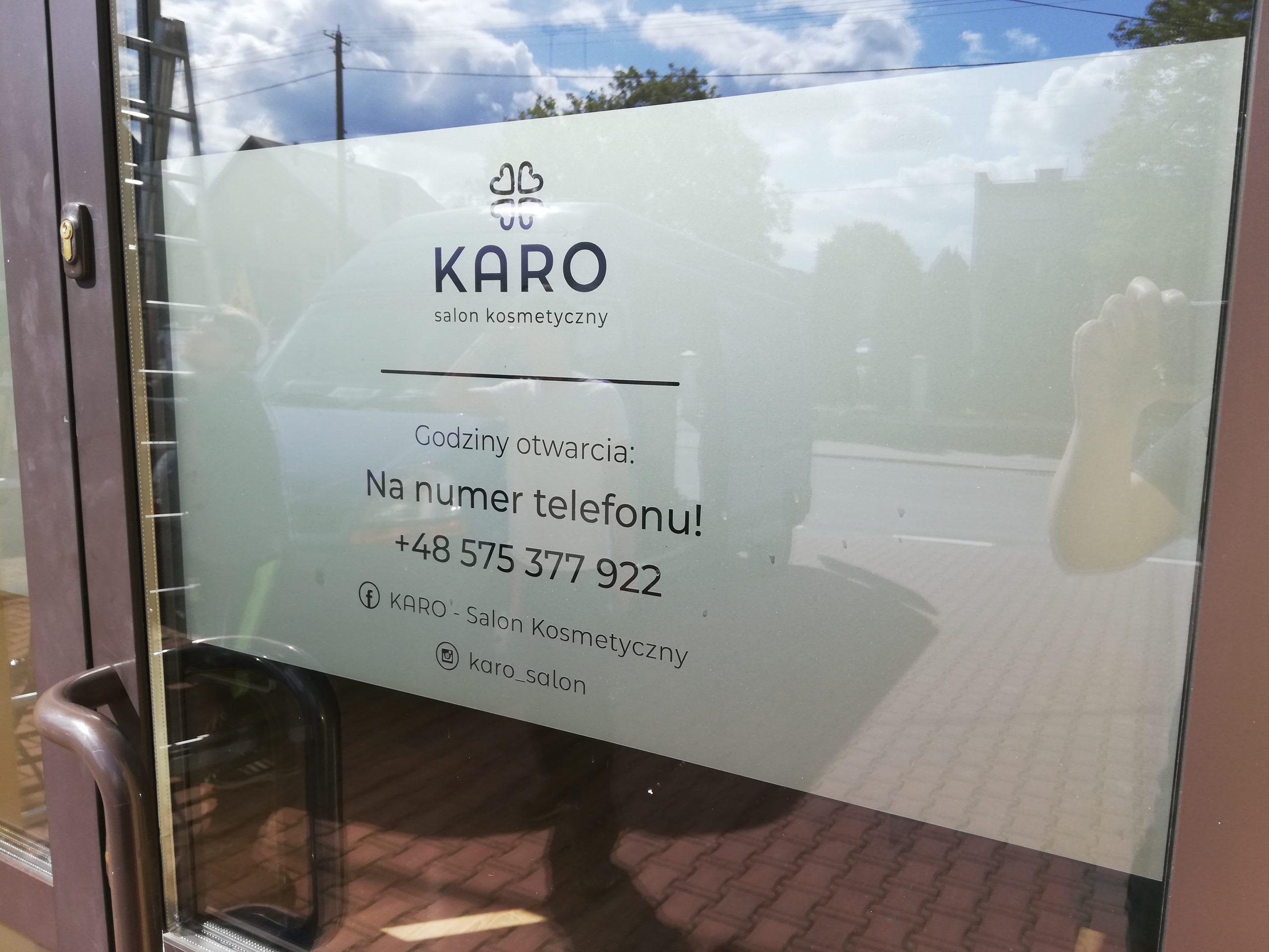 Realizacja reklamy Karo Salon Kosmetyczny